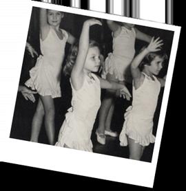 Deborah in ballet class