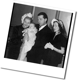 Joan, Bill and actress Maureen O'Sullivan at Deobrah's christening
