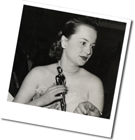 Olivia with her first Oscar